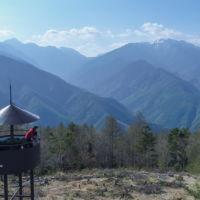 鹿嶺高原から見える仙丈ケ岳方面