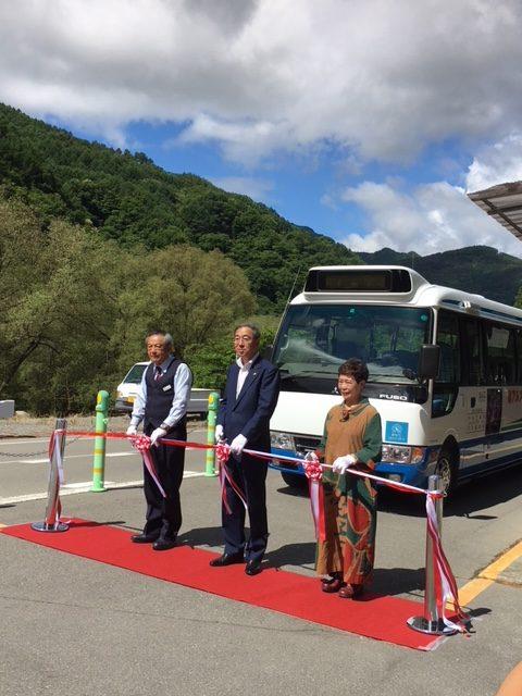 南アルプス林道バス開通式